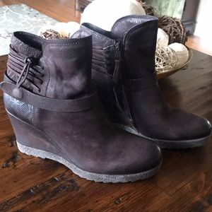 Miz Mooz Brown Leather Ankle Boots